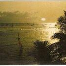 Lahaina Hawaii Sunset vintage postcard