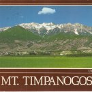 Mt Timpanogos Utah Valley Wasatch Mountains vintage postcard