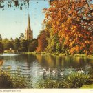 Stratford Upon Avon England Shakespeare Holy Trinity Church vintage postcard