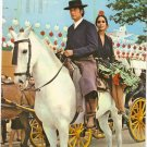 Sevilla April Fair Spain vintage postcard Senor Senora Horse