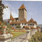Lake Thun, Castle of Spiez Switzerland vintage postcard
