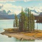 Canadian Rockies Maligne Lake Spirit Island Canada vintage postcard