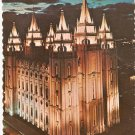 LDS Mormon Temple Salt Lake City Utah vintage postcard Latter Day Saints