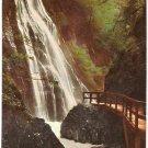 Waterfall Wimbachklamm Germany vintage postcard