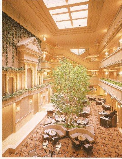 Nagoya Tokyu Hotel interior vintage postcard