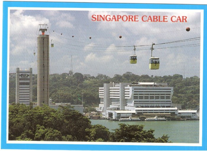 Singapore Cable Car Sentosa Island postcard