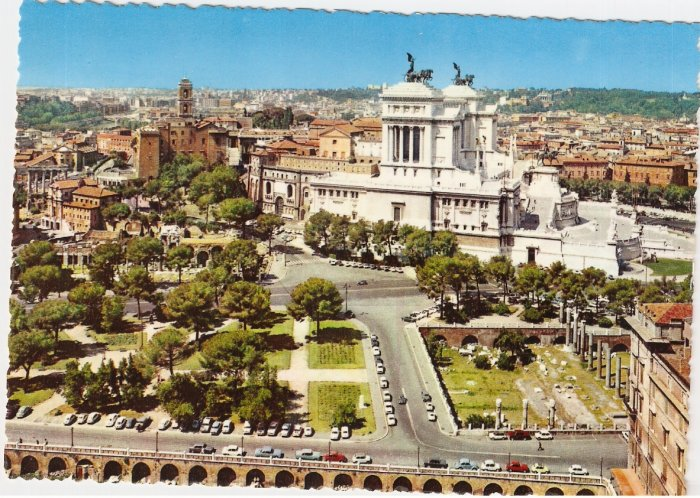 Roma Rome Italy Panorama General View vintage postcard