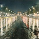 Paris France Les Champs Elysees i'Arc de Triomphe vintage postcard