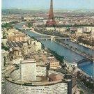Palais de la Radio Seine Eiffel Tower Paris France vintage postcard
