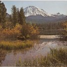 Lassen Peak Manzanita Lake Volcanic National Park California vintage postcard