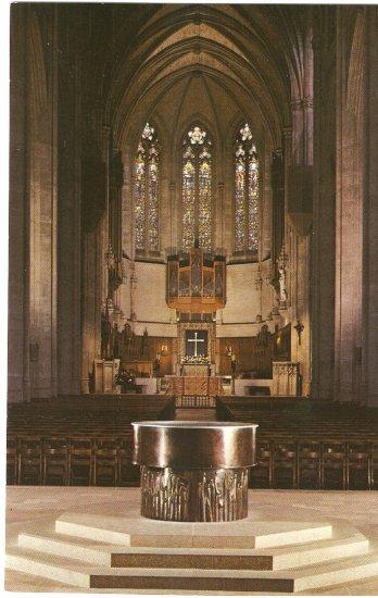 Grace Cathedral San Francisco CA Great Font Altar Apse vintage postcard