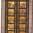 Grace Cathedral San Francisco CA Ghiberti Doors vintage postcard