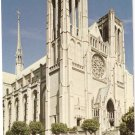 Grace Cathedral San Francisco CA Taylor St vintage postcard