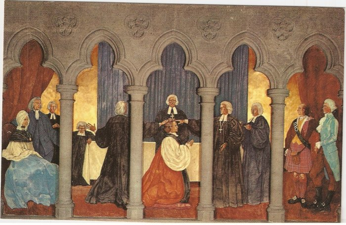 Grace Cathedral San Francisco California Samuel Seabury Consecration vintage postcard
