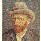 Vincent Van Gogh portrait with mol hat vintage postcard