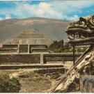 Temple Quetzalcoatl San Juan Teotihuacan Mexico vintage postcard