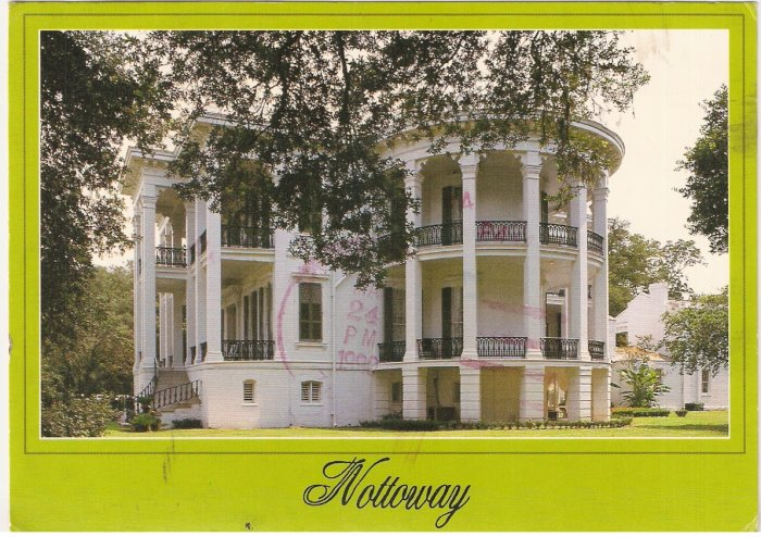 Nottoway Plantation White Castle Louisiana 1990 postcard