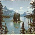 Maligne Lake Jasper National Park Alberta Canada vintage postcard