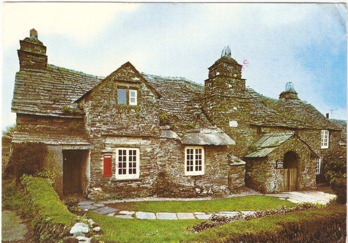 Old Post Office Tintagel Cornwall UK vintage postcard