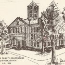 Christian County Courthouse Taylorville Illinois 1986 postcard
