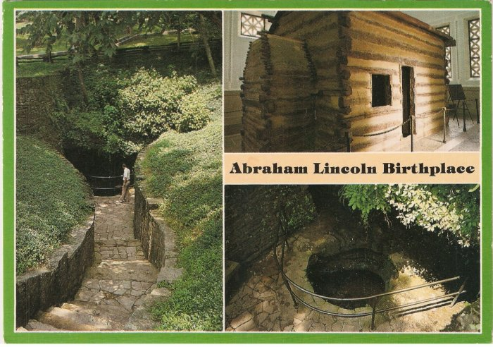 Abraham Lincoln Birthplace  Hodgenville Kentucky postcard