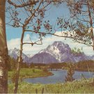 Grand Teton National Park Wyoming Mt Moran Snake River postcard