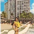 Outrigger Hotel beach Waikiki Honolulu Hawaii postcard