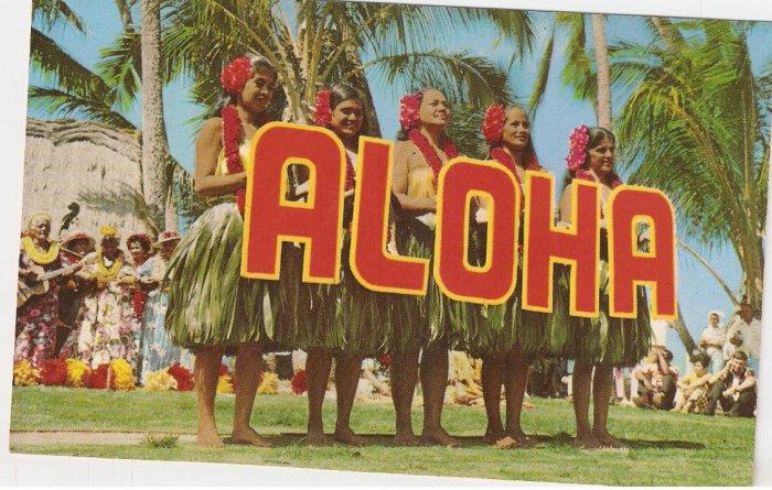 Kodak Hula Show Waikiki Honolulu Hawaii vintage postcard