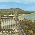 Top of Waikiki Diamond Head Business Plaza Hawaii vintage postcard