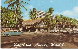 Kalakaua Avenue Waikiki Hawaii vintage postcard