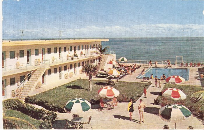 Carib Motel Miami Beach FLorida vintage postcard