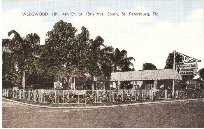 Wedgwood Inn St Petersburg Florida vintage postcard