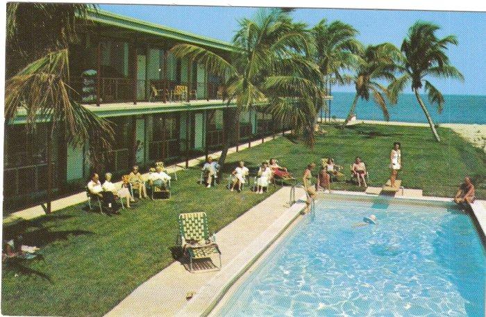 Surf Rider Apartments Pompano Beach Florida vintage postcard