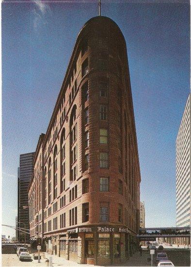 Street View Brown Palace Hotel Denver Colorado color postcard