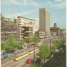 Copenhagen Denmark street scene tram vintage postcard