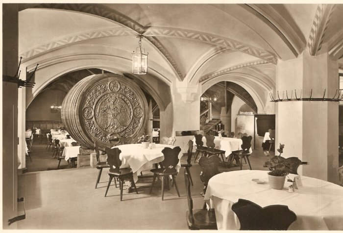 Munich Restaurant Germany vintage postcard