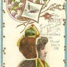 White Sewing Machine Vintage Trade Card