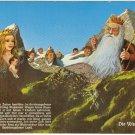 Die Watzmannfage King 7 children Germany vintage postcard