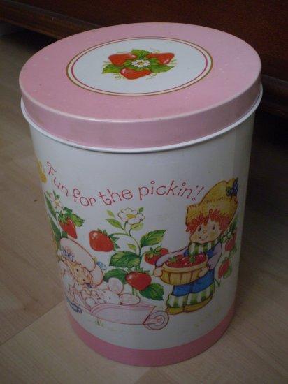 Vintage Strawberry Shortcake Tin Canister 1982 Cheinco Chein