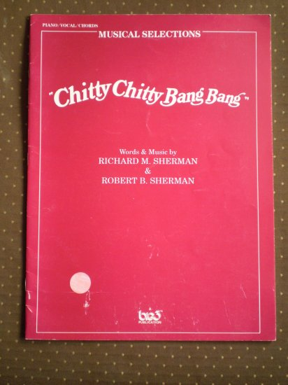 Chitty Chitty Bang Bang songbook Sherman 1991 sheet music
