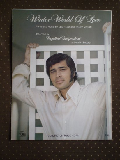 Winter World of Love Reed Mason 1969 Humperdinck Sheet Music