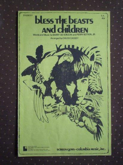 Bless the Beasts and Children Vorzon Botkin S.A. Chuck Cassey 1972 sheet music