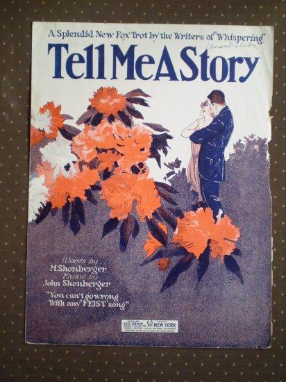 Tell Me A Story Shonberger 1923 Leo Feist Fox Trot sheet music