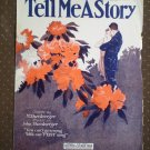 Tell Me A Story Shonberger 1923 Leo Feist Fox Trot sheet music