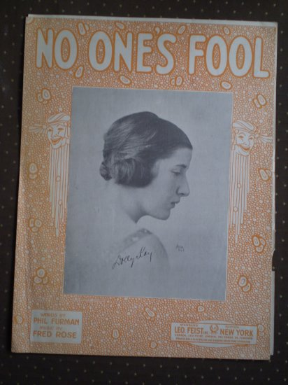 No One's Fool Phil Furman Fred Rose Leo Feist 1921 sheet music
