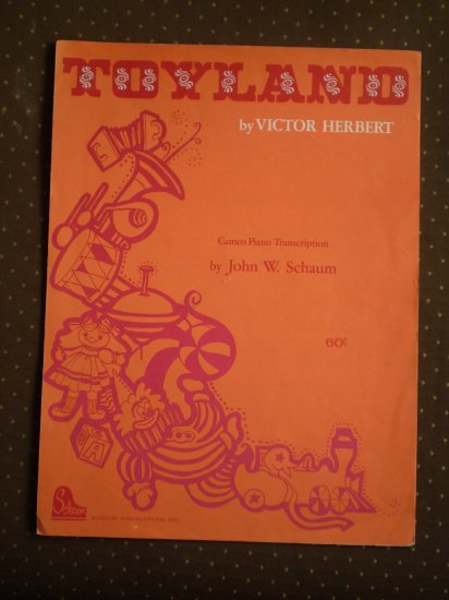 Toyland Victor Herbert Cameo Piano Transcription Schaum 1959 sheet music