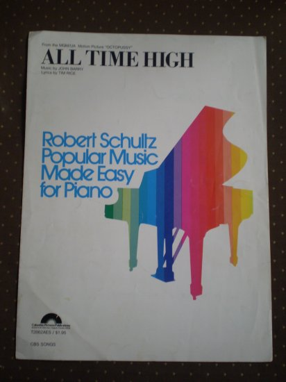 All Time High John Barry Tim Rice Sheet Music 1983 Danjaq Octopussy