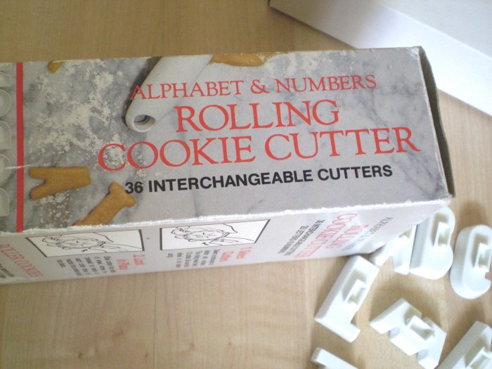 Alphabet Numbers Rolling Cookie Cutter Set Bentson-West Designs