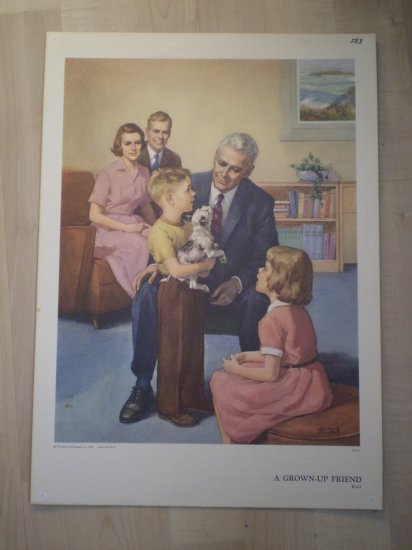 A Grown-Up Friend Providence Lithograph 1959 Foxley print