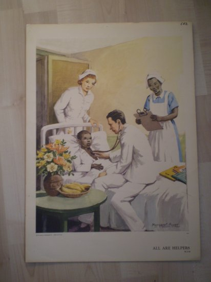 All Are Helpers Providence Lithograph Vintage Margaret Ayer print